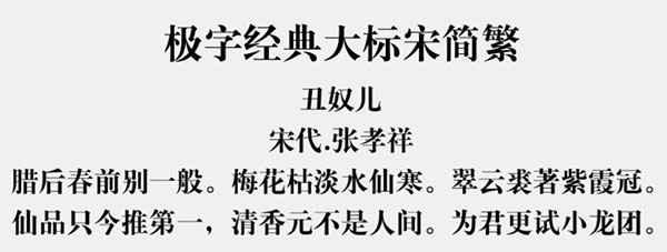 极字经典大标宋简繁字体