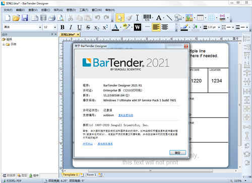bartender2021激活码